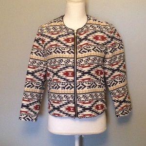 NWT Zara Trafaluc Aztec Print Jacket Medium